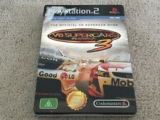 V8 Supercars Australia 3 PS2 PAL Rare Steel Book
