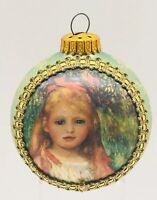 VTG Krebs 1992 MASTERS ON SILK - Renoir- THE LITTLE GLEANER Christmas Ornament