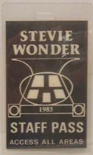 STEVIE WONDER - ORIGINAL CONCERT TOUR LAMINATE BACKSTAGE PASS ***LAST ONE***
