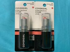 Lot of 2 CoverGirl Continuous Color Lipstick, Bronzed Peach [015], 0.13