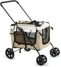 New ListingNew Pet Travel Stroller Dog Cat Pushchair Pram Jogger Buggy w/Locking