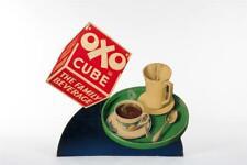 """Vintage c1930 ~ """"Oxo Cube"""" Die Cut Showcard                                 #709"""