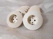 Originale Bakelit Steckdosen Schuko Unterputz weiß rund Schalter