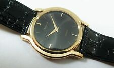 Lassale by Seiko Gold Tone Base Metal 5L10-6A00 Leather Sample Watch NON-WORKING