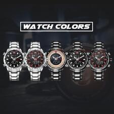 Fashion Naviforce Dual Time Watch Quartz Sports Men's Wrist Watch G7y0 Silver Black