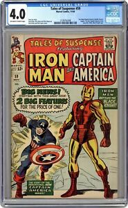 Tales of Suspense #59 - 4.0 CGC - 1st Jarvis & 1st solo Captain America! - KEY!
