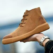 Retro Mens High Top Lace Up Casual Shoes chukka Desert Hiking Ankle BootsH159