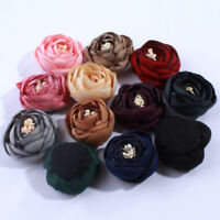 50PCS 3CM 3D Mini Satin Tulip Flowers For Hair Accessories FOR Headbands