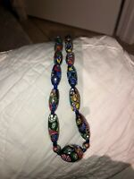Details about  /VINTAGE MURANO MILLEFIORI  ITALIAN MULTICOLOR GLASS BEAD  NECKLACE FROM  29,5/'/'