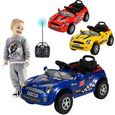 KID CHILD 6V ELECTRIC RC RADIO REMOTE CONTROL RIDE ON CAR WITH MUSIC & LED TOY