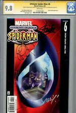 Ultimate Spider-Man 6 CGC 9.8 SS X3 Stan Lee Bendis writing Bagley White Pages 1