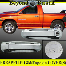 2005-2011 DODGE RAM DAKOTA Chrome 2-dr Door Handle + Gas Door COVERS  W/O PSK