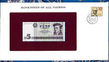 Banknotes of All Nations GDR East Germany 1975 5 Mark UNC P 27a IH368478