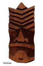 Carved Wood Tiki Bar Mask, Original one of a Kind Outsider Art Piece