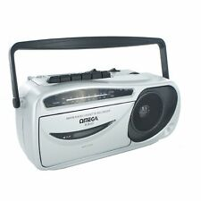 Omega 09109 Portable AM/FM Radio Cassette Recorder