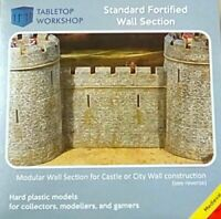 28mm MEDIEVAL FORTIFIED CASTLE WALL TABLETOP WORKSHOP NEW
