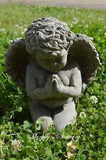 Prayerful Cherub Angel Solid Concrete Garden Statue/Memorial