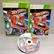 Hot Wheels World's Best Driver - Microsoft Xbox 360 - CIB Complete Rare Game