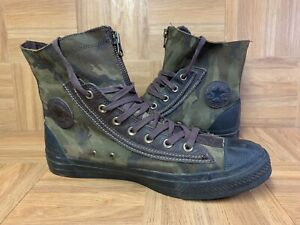 RARE🔥 Converse Chuck Taylor All Star Hi CAMO Leather Combat Boots Sz 11 144696c