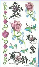 Rose  Chinese CharacterGlitterTemporary Tattoos #hm0028