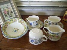Johnson Bros Tesco Sunny Days Cereal Bowls mugs cups creamer saucers Lot England
