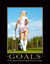 Golfing Motivational Poster Print 11x14 Golf Clubs Balls Bag Driver   MVP55