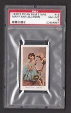 Our Gang Mary Ann Jackson Rare 1930s Pidan Film Stars Card PSA 8 NM MT