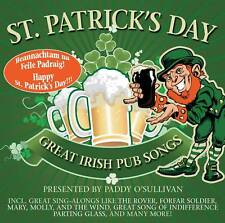 St. Patrick's Day! Great Irish Pub Songs By Paddy O(cd)