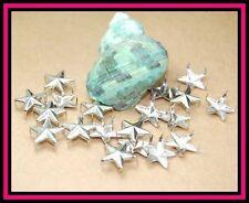 Tachuelas 50 piezas estrella grande plata 12 mm