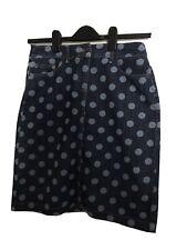 Polka Spot Blue Boden Jean Skirt Size 12