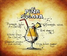 PINA COLADA  MOUSE PAD  IMAGE FABRIC TOP RUBBER BACKED