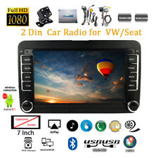 7''2 Din GPS Android Car Radio for VW/Seat +CAM Wifi FM BT iOS Mirror Link Touch