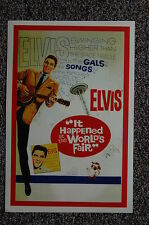 Elvis Lobby Card Movie Poster It Happend At The Worlds Fair