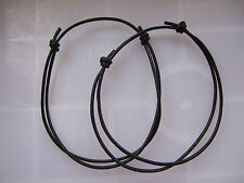 10pcs Black Leather Cord Lucky Bracelet Anklet Adjustable For Men Women Surf