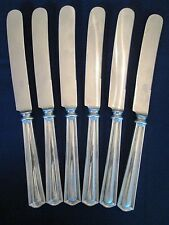 SET 6 DINNER KNIVES! Vintage INTERNATIONAL STERLING 925 silver DEERFIELD pattern