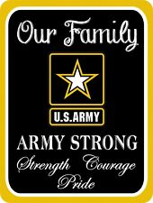 ARMY Strong Pride Family Military USA United States Metal Sign 9x12