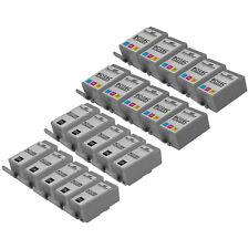 Compatible 20 pack Canon (10) BCI-15 Black (10) BCI-16 color Ink Cartridges