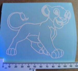 Car Window Decal - 1x Young Simba Vinyl Sticker Lion King - Van, laptop