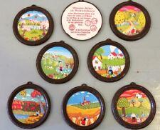 Ferrero Nutella - Miniatur Bilder im Wechselrahmen, braun 1977 -  1x Bild wählen