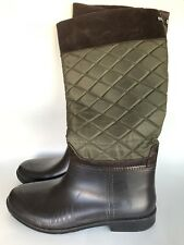 Quilted Boots 10 Waterproof Rubber Bottom Riding Weatherproof Storm Cougar