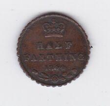 1844 QUEEN VICTORIA HALF FARTHING Queen Victoria ERROR COIN MULE A Variety L-549