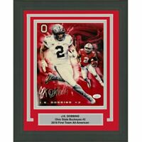 FRAMED Autographed/Signed JK J.K. DOBBINS Ohio State 8x10 Photo JSA COA Auto #4