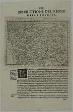 POLAND 1598 ORIGINAL ANTIQUE MAP LITHUANIA BELARUS BALTICS RUSSIA UKRAINE MAGINI