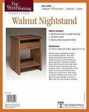 Fine Woodworking's Walnut Nightstand Plan by Michael Cullen (2015, Print, Other)
