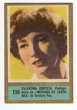 1950s Fedora Spanish Film Star cigarette tobacco card #150 Valentina Corese