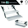 DOUBLE ALUMINIUM PULL OUT CARAVAN STEP - RV PARTS ACCESSORIES STEPS FAN