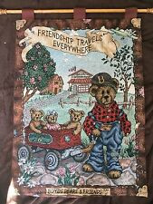 """Boyds Bears Tapestry """"Friendship travels everywhere"""" beautiful, Spring setting."""