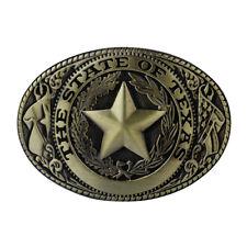 Metal Men Cowboy Western Vintage Belt Buckle The State of Texas Oval Buckle 40mm