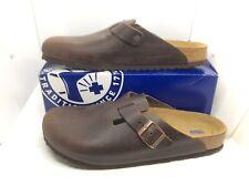 BIRKENSTOCK Mens Boston Habana Brown Leather Clog Shoes Sz 12 EU46 N ZB6-1000