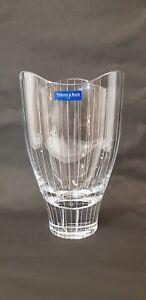 VILLEROY & BOCH CRYSTAL GLASS VASE 26 cm TALL 3.3 KG STUNNING PIECE OF GLASS
